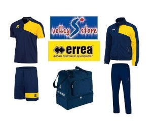 Errea Box Basic Man Navy-yellow